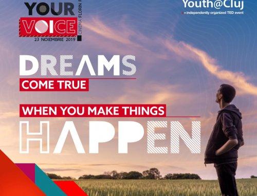 TEDxYouth@Cluj are loc in noiembrie 2019 si este dedicat tinerilor care fac lucrurile sa se intample!